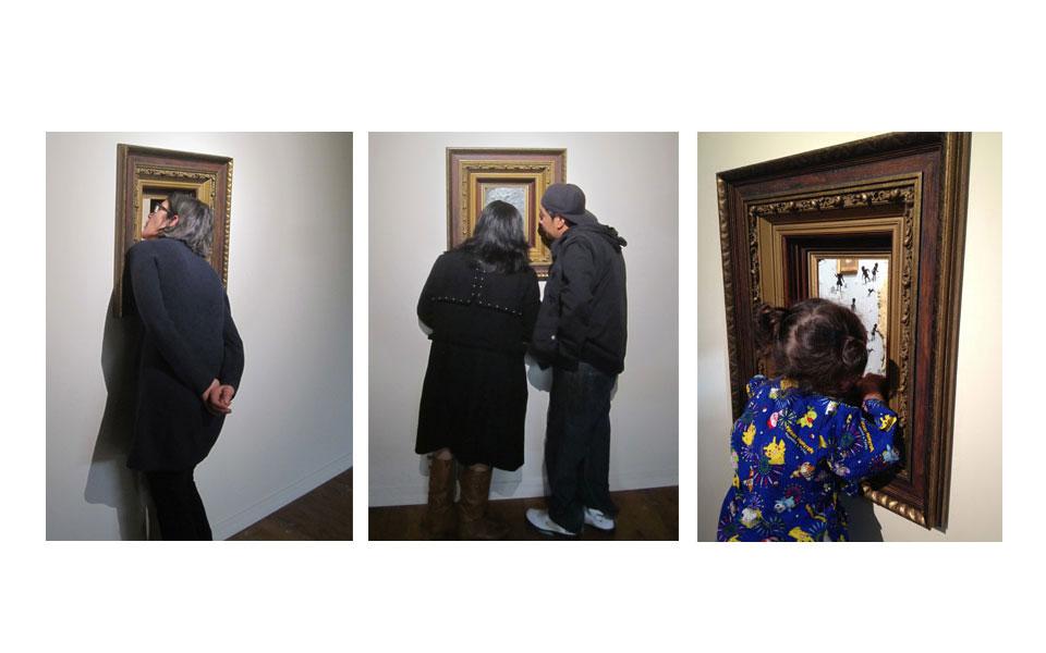 Marc Rubin, Lost & Found, interactive installation, mixed media, 12 x 12 x 12 ft.