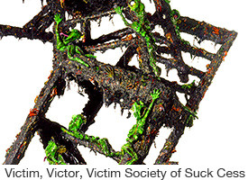 Marc Rubin, Victim, Victor, Victim Society of Suck Cess, mixed media balancing on one leg, 12 ft. high